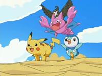 Archivo:EP534 Pikachu, Piplup, Gligar y Staravia jugando.png