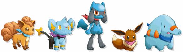 Archivo:Vulpix, Shinx, Riolu, Eevee y Phanpy en Mundo Misterioso 3.png