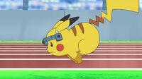 EP629 Pikachu en el Pokeathlon