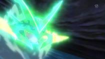 SME03 Mega-Rayquaza usando ascenso draco