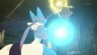 EP848 Pikachu vs Mega-Lucario