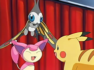 EP464 Beautifly, Skitty y Pikachu