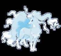 Ilustración de Ninetales de Alola
