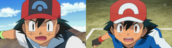 Comparación de ojos de Ash en diferentes temporadas