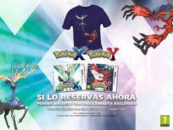 Camiseta de Xerneas e Yveltal al reservar Pokémon XY.jpg