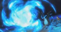 PO04 Mega-Charizard usando Llamarada