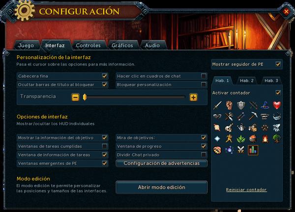 """Interfaz """"Interfaz"""" de Configuración."""