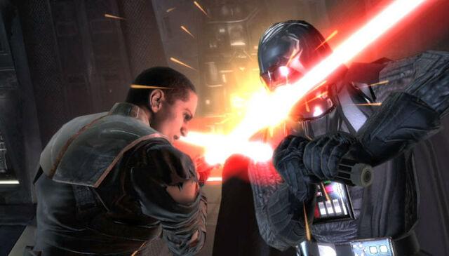 Archivo:Starkiller vs Vader.jpg
