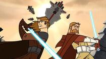 Skywalker y Kenobi contra Bomis Koori IV