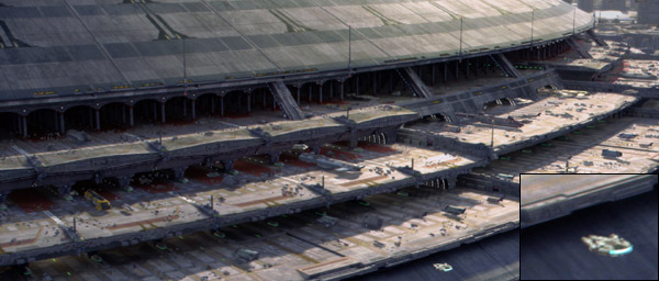Archivo:Millennium Falcon in Coruscant (Ep III).jpg