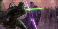 Duelo en Coruscant (Periodo Inter-Guerras Sith)
