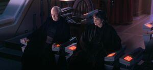Palpatine y Anakin en la Opera