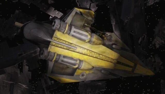 Archivo:Anakins Delta-7B wreckage.jpg