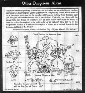 Alienígenas Peligrosos 3ª Edición ilustración