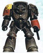 Grifos Aullantes Hermano Veterano Xaran Armadura Exterminador Camuflaje Mundo Nocturno Marines Espaciales Astartes Wikihammer