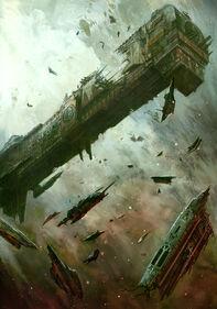 Mechanicus crucero atacado