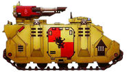 Grifos Aullantes Razorback Mk VI Pacificacion Dennar IV Tercera Compañia Marines Espaciales Astartes Wikihammer