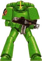 Guerreros Mantis Tactico Esquema Color Original Servoarmadura Mark VI Corvus Marines Espaciales Astartes Wikihammer