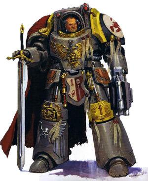 Escorpiones Rojos Alto Lord Comandante Carab Culln Marines Espaciales Astartes Wikihammer