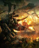 Orkos ghazghkull ataque colmena defensa imperial