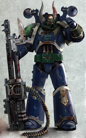 Ciro Legión Alfa Black Crusade ilustración