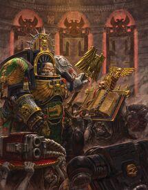 Guardianes de la Muerte Capellán Exterminador Salamandras Bolter de Asalto Bendicion Ordo Xenos Wikihammer