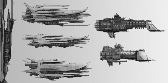 Rak'Gol Transporte Carnicero Fragata Luchador Crucero Ligero Aplastador Flota Imperial Crucero de Batalla Caliz Corbeta Claymore Wikihammer