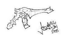Pistola Shuriken Mundos Astronave 2005 Jes Goodwin