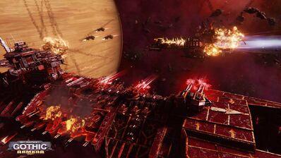 Flota batalla bajas imperiales vs caos