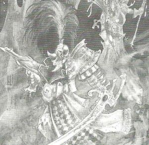 Gran Arlequín Eldars John Blanche 2ª Edición ilustración