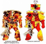 Grifos Aullantes Esquema Camuflaje Original Marines Espaciales Astartes Wikihammer