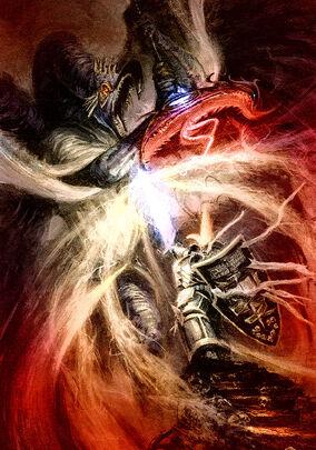 Kaldor Draigo vs Señor de la Transformación M'Kachen.jpg