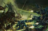 Ultramarines VS necrones