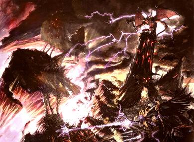 Caos combate de dioses en la disformidad wikihammer