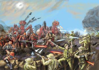 Caos pacto sangriento vs imperio