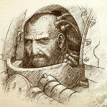 Cara Calas Typhon Primer Capitán Guardia Muerte Herejía