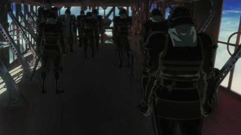 Escaflowne movie – Van kills some of the Black Dragon Clan soldiers Japanese