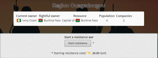 Resistance war starts