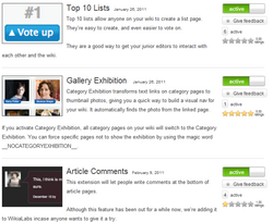 Wikia Labs screenshot