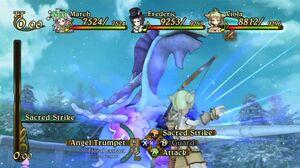 Viola Uses Sacred Strike on a Flamea
