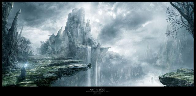File:1920x949 2000 On The Ledge 2d fantasy castle wizard mist picture image digital art.jpg