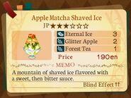 Stratum 3. Apple Matcha Shaved Ice