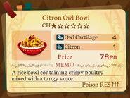 Stratum 1. Citron Owl Bowl