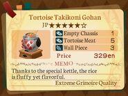 Stratum 5. Tortoise Takikomi Gohan