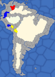 """""""Map showing South American provinces that trigger bankruptcy events"""""""