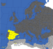 """""""Map showing cores gained by Spain during the Spain is Unified event"""""""
