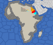 """""""Map showing Nubia's starting position in 1700"""""""