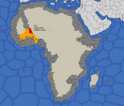 Map showing Songhai's starting position in 1492