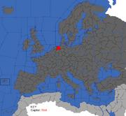 """Map showing Oldenburg's starting position"""