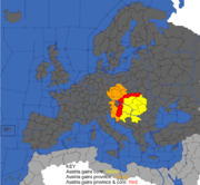 Map showing effects of Hungarian inheritance